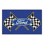 FANMATS Ford - Ford Flags Nylon 4x6 Rug, Multi-Colored (15828)