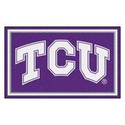 FANMATS Texas Christian University Nylon 4x6 Rug, Multi-Colored (20260)