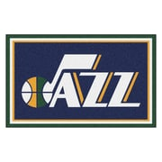 FANMATS NBA - Utah Jazz Nylon 4x6 Rug, Multi-Colored (20446)