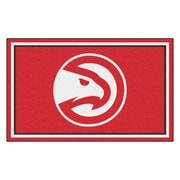 FANMATS NBA - Atlanta Hawks Nylon 4x6 Rug, Multi-Colored (20418)