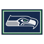 FANMATS NFL - Seattle Seahawks Nylon 4x6 Rug, Multi-Colored (6606)