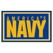 FANMATS U.S. Navy Nylon 4x6 Rug, Multi-Colored (7190)
