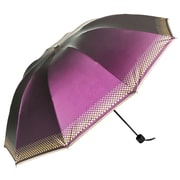 Aerusi UV Protection Compact Travel Folding Umbrella, Lightweight, 44 Inch Arc, Purple (UMBLEA004)