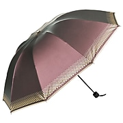 Aerusi UV Protection Compact Travel Umbrella, Lightweight, 44 Inch Arc, Plum (UMBLEA003)