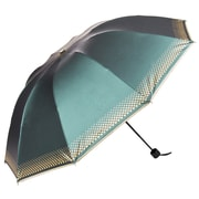 Aerusi UV Protection Compact Travel Folding Umbrella, Lightweight, 44 Inch Arc, Aqua (UMBLEA005)