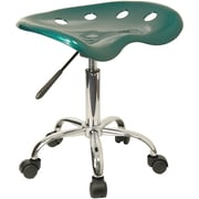 Offex Vibrant Green Tractor Seat Barstool and Chrome Stool (OF-F-214A-GREEN)