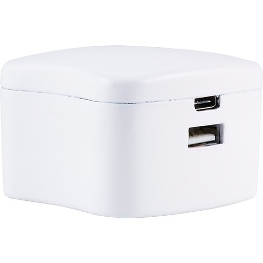 Staples Usb C Usb A Wall Charger 52340 Us Staples