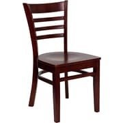 Offex Hercules Series Ladder Back Mahogany Wood Restaurant Chair (OF-DGW0005-MAH)