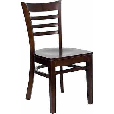 Offex Hercules Series Ladder Back Walnut Wood Restaurant Chair (OF-DGW0005-WAL)