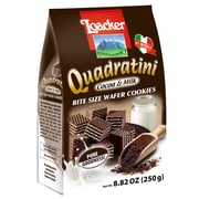 Loacker Quadratini Cocoa & Milk Wafer Cookies, 8.82 Oz., 8/CT