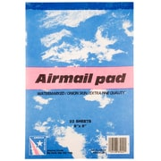 "JAM Paper® Airmail Paper Pads, 6"" x 9"", 17 lb. Onion Skin Paper, 3 Packs of 22 sheets (189815216a)"