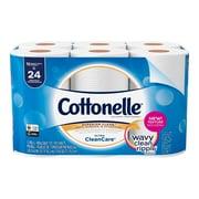 Cottonelle Ultra CleanCare Toilet Paper, Strong Bath Tissue, 12 Double Rolls (47622)