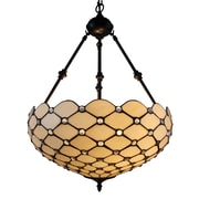 Amora Lighting Tiffany Style 2-Light, Jeweled Hanging Lamp (AM1117HL18)