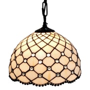 Amora Lighting Tiffany Style 1-Light, Jeweled Hanging Lamp (AM119HL12)