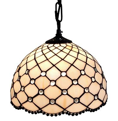 Amora Lighting Tiffany Style 1-Light, Jeweled Hanging Lamp (AM119HL12)