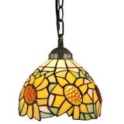 Amora Lighting Tiffany Style 1-Light, Sunflower Pendant Lamp (AM1095HL08)