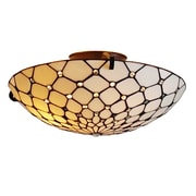 "Amora Lighting Tiffany Style 3-Light, Jeweled Ceiling Lamp, 17"" Diameter (AM030CL17)"