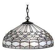 Amora Lighting Tiffany Style 2-Light, Royal White Hanging Lamp (AM221HL18)
