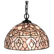 Amora Lighting Tiffany Style 1-Light, White Hanging Lamp (AM274HL12)
