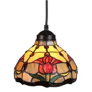 Amora Lighting Tiffany Style 1-Light, Tulips Hanging Lamp (AM001HL08)