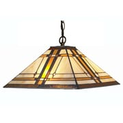 Amora Lighting Tiffany Style 2-Light, Mission Style Hanging Lamp (AM1053HL14)