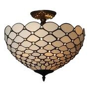 Amora Lighting Tiffany Style 2-Light, Jeweled Ceiling Lamp (AM086CL16)