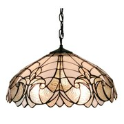 Amora Lighting Tiffany Style 2-Light, White Floral Hanging Lamp (AM206HL18)