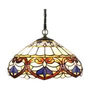 Amora Lighting Tiffany Style 2-Light, Multicoloured Hanging Lamp (AM1062HL16)