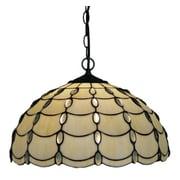 Amora Lighting Tiffany Style 2-Light, Jeweled Cascade Hanging Lamp (AM1042HL16)