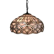 Amora Lighting Tiffany Style 2-Light, White Hanging Lamp (AM295HL16)