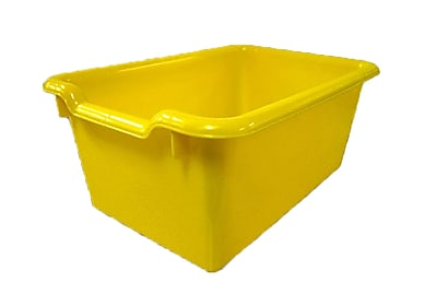 Offex Scoop Front Storage Bins - Yellow, 10 Pack (OF-ELR-0482-YE)