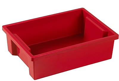 Offex Small Storage Bins without Lid, Red, 8 Pack (OF-ELR-0724-RD)
