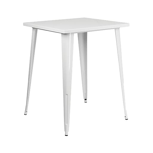 "Offex 31.5"" Square Bar Height White Metal Indoor-Outdoor Table (OF-51040-40-WH)"