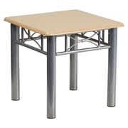 Offex Natural Laminate End Table with Silver Steel Frame (OF-JB-6-END-NAT)