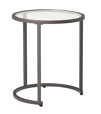 Offex Modern Camber Collection Nesting Tables - Peter/Clear Glass (OF-71010)