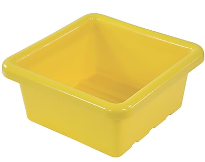 Offex Square Tray without Lid, Yellow, 4 Pack (OF-ELR-0800-YE)