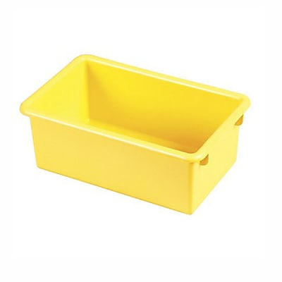 Offex Stack and Store Tub without Lid, Yellow, 6 Pack (OF-ELR-0101-YE)