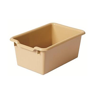 Offex Scoop Front Storage Bins - Sand, 10 Pack (OF-ELR-0482-SD)