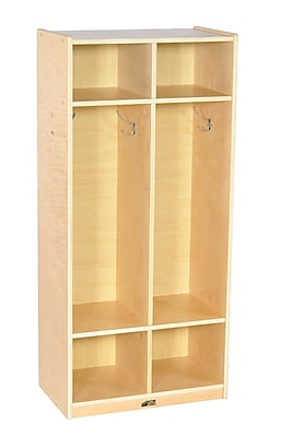 Offex Birch 2-Section Straight Coat Locker (OF-ELR-17230)