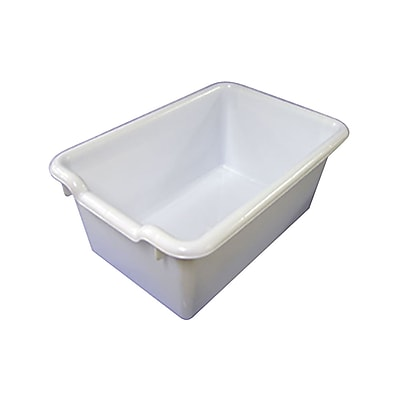 Offex Scoop Front Storage Bins - White, 10 Pack (OF-ELR-0482-WH)