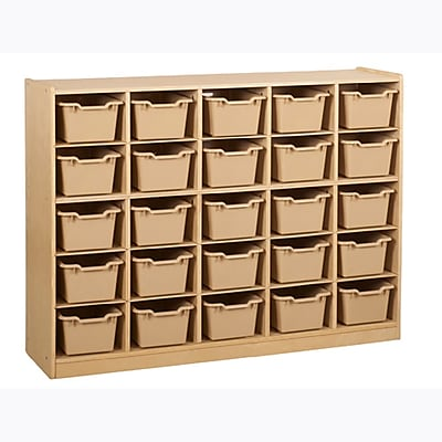 Offex Birch 25 Cubby Tray Cabinet with Sand Bins (OF-ELR-0427-SD)
