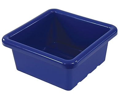 Offex Square Tray without Lid, Blue, 4 Pack (OF-ELR-0800-BL)
