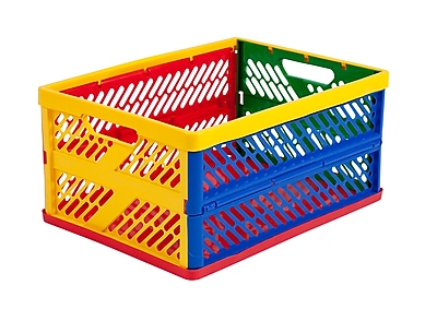 Offex Large Vented Collapsible Crate - 12 Pack (OF-ELR-0170)