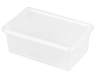 Offex Stack and Store Tub with Lid, Clear, 6 Pack (OF-ELR-0102-CL)