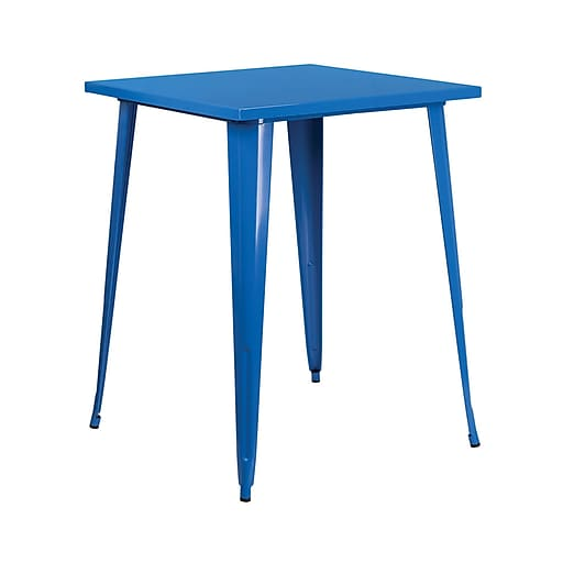 """Offex 31.5"""" Square Bar Height Blue Metal Indoor-Outdoor Table (OF-51040-40-BL)"""