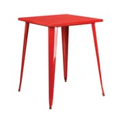 "Offex 31.5"" Square Bar Height Red Metal Indoor-Outdoor Table (OF-51040-40-RED)"