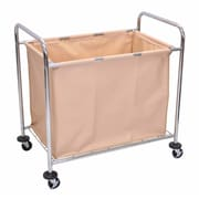 Offex Laundry Cart, Steel Frame and Canvas Bag (OF-HL14)
