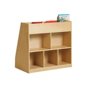 "Offex 36""W Birch Display and Store Mobile Book Cart (OF-ELR-17103)"