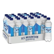 Ice Mountain Brand Sparkling Natural Spring Water, Simply Bubbles, 16.9 oz. Plastic Bottle, 24/Pack (12349524)