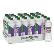 Poland Spring Brand Sparkling Natural Spring Water, Triple Berry Flavor, 16.9 oz. Plastic Bottle, 24/Pack (12349572)